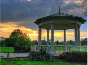 Gazebo infront of Strathmore Mansion