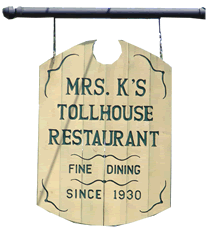 Tollhouse Sign