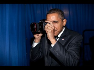 Barack Obama with Canon 5D