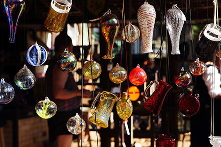 Hanging Glassware at the Maryland Renaissance Festival