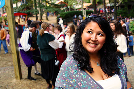 Kristina Smiling at the Maryland Renaissance Festival