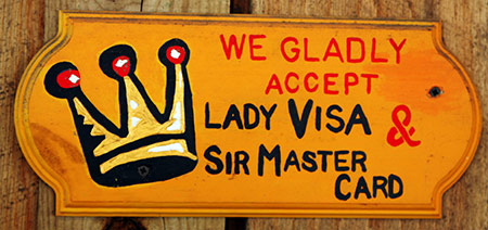 Lady Visa Sir Mastercard