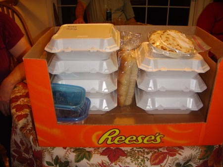 A box full of leftovers.